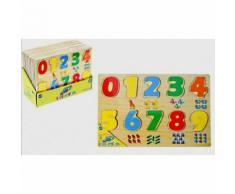 Jouet Educatif Puzzle En Bois Chiffres Animaux 1er Age 18 Mois