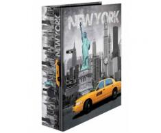 Herma Classeur À Levier Carton A4 Dos De 70 Mm Motif New York