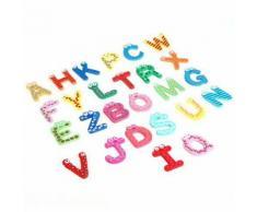 Ensemble 26 Lettres Magnétique Alphabet En Bois Jouet Educatif Bébé Décoration