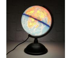 Neufu 20cm Globe Terrestre Lumineux Polyméthacrylate
