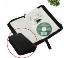 Classeur Rangement Boite Pochette Etui Range 80 CD DVD Sac Sacoche Plastique