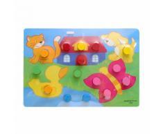 Conseil Coloré Connaissances Montessori Pour Enfants Jouets Éducatifs Pour Enfants __Gvirt_Np_Nn_Nnps__ Jouets Puzzle En Bois