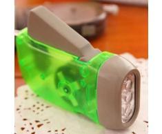 Pression De Main Extérieure Auto-Génératrice 3led Dynamo Lampe De Poche Protection De L'environnement