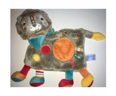 Doudou Lion Gris Bleu Turquoise Orange Rouge Jaune Indien Hindou Simba Toys Benelux Kiabi Jouet Eveil Bebe Naissance Soft Toys
