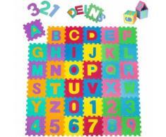 Tapis Puzzle, Tapis De Jeux 86 Pièces En Mousse - Jeux Créatif Et Éducatif 180 Cm X 180 Cm X 1 Cm Multicolore Tectake