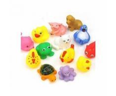 1 Paquet De 13pcs Piscine Jouets Animaux Pour Bébé Enfants Bath Time Enfants