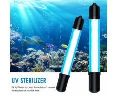 Stérilisateur Uv Pour Aquarium Éclairage Submersible Eau Propre Lampe Pour Étang Fish Tank