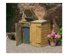 Rowlinson - Coffre multifonctions / Abri poubelles double en bois 1,50 m3 BINSTORE - BINLRGP2
