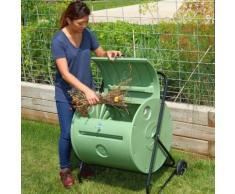 Composteur de jardin rotatif mobile - Mini-Composteur Mantis 140 litres - Plastique haute densité - Protégé des intempéries et des rongeurs