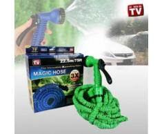 Tuyau d'Arrosage Extensible rétractable 22,5 mètres + Pistolet Magic Hose VU TV !