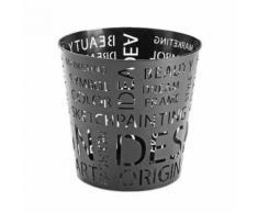 Corbeille À Papier En Métal Noir Design
