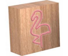 Lampe-Enceinte Sans Fil Colorlight Néon Flamingo Avec Charge Induction Taille L
