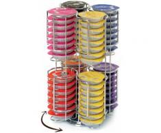43b516a10e74b2 Porte Capsules - Distributeur Présentoir Rotatif Pour 64 Capsules Tassimo  Acier Chromé