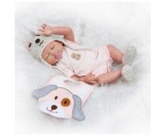 Bebe Fille Vivante Reborn Poupées Plein Silicone Reborn Poupées 20 Main Poupée Toys Peut Entrer Dans L'eau Bebe Bonecas