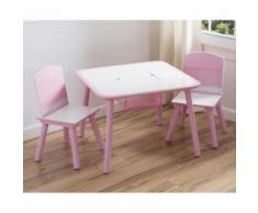Table Enfant Et 2 Chaises Rose