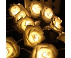 YOINS® ICOCO 20 Led Solaire Propulsé Belle Rose Forme Guirlande Lumineuse pour Anniversaire Festival De Noël De Noce Accueil/Décoration Extérieure