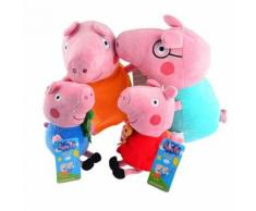 Peluches Peppa Pig Famille 4 Pièces