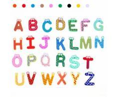 Moakoada®26 Lettres Réfrigérateur Enfant Aimant Bébé Jouet Éducatif Jouets Pour Le Bain Jouets De Noël