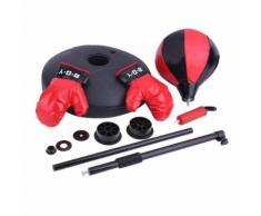 Enfant Stand Box Punching Ball Réglable Box Bulb Gants Enfants Boxe Punching-Ball Tapis Avec Gants Hauteur Jouet Cadeau