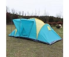 Grande Camping Tente Familiale 4-6 Personnes 390cm Imperméable En Plastique Pe En Plein Air