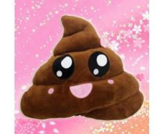 Yarui-World Mignon Emoji Coussin Caca Forme Oreiller Poupée Jouet Jeté Drôle Enfant Cadeau Taille:20cm