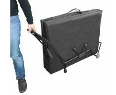Vivezen ® Chariot À Roulettes Pliable Et Transportable Pour Table De Massage