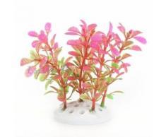 Plante Artificielle Aquatique En Plastique Rose-Vert Décoration Aquarium
