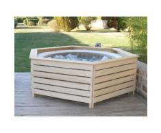 Habillage en bois spa gonflable Intex - AquaZendo