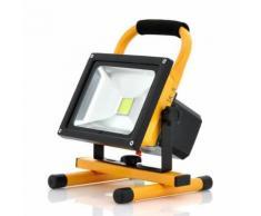 Spot à LED blanc 30W 2550 lumens portable rechargeable Etanche IP65