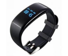 Bracelet 2016 Dernières Moniteur Bracelet D21 Bluetooth Bracelet Montre Smart Watch Piscine Waterproof Fréquence Cardiaque Podomètre Tactile Key Bracelet Pour Android Et Ios(Noir)