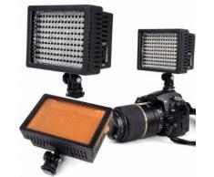 Lampe à 160 LED appareil photo Dimmable reflex numérique caméscope éclairage vidéo pour Canon Nikon 3200-5400K DSLR