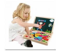 Tribe Puzzles En Bois Magnétique Jouets Éducatif Avec Tableau Noir Double Face Pour Bambin Enfants Garçon Filles 3, 4, 5 Ans