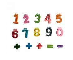 Nombres En Bois Magnétiques Mathématiques Numérique Set Bébé Jouet Éducatif