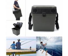 Tempsa Boîte De Pêche Rangement Équipement Siège Avec Bandoulière Côté Plateau Bateau Verte Plastique