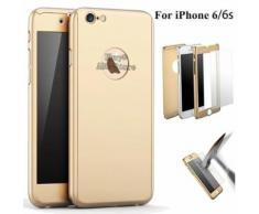 Ebuy® Pour Iphone 6/6s 360° Protection Complet Coque Etui Verre Trempé Film Doré (Abc-Store)