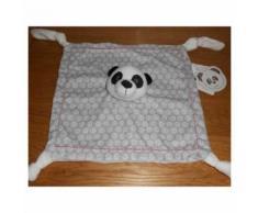 Doudou Plat Tête De Panda Carréblanc Carré Blanc Gris Noir Blanc 4 Noeuds Jouet Bebe Naissance Peluche Éveil Enfant Blanket Comforter Soft Toys