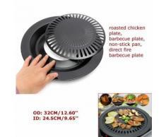 32cm Portable Corée Barbecue Grill Revêtement Anti-Adhésif Clair Butane Poêle À Gaz Plaque Pan