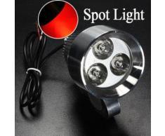 12v 15w 3 Led Mini Spot Projecteur Phare Lampe Travail Rouge Camion Bateau Auto