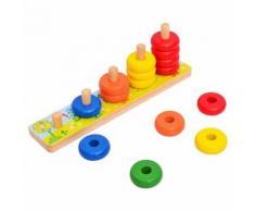Arc-En-Ciel Calculer Le Cercle Montessori Comptage Empileur Jouet En Bois Pour Les Enfants