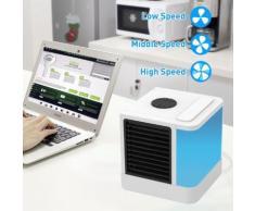 NEUFU Mini Climatiseur Ventilateur Fan Refroidisseur/Humidificateur/Purificateur Air Affichage LCD