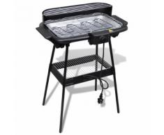 Barbecue Electrique Grille Rectangulaire Pour Jardin