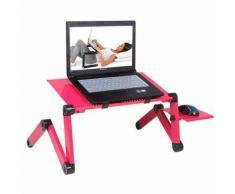 Yarui-World® Rose Support Table Lit Ordinateur Tablette Inclinable Pliable PC Portable Laptop iPad Avec souri plaque