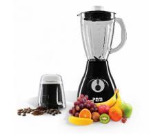 Blender (en verre) 350W 1.7L 4 Lames + Grinder à café - PEM BL-203