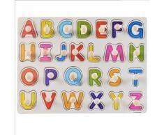 Enfant Éducation Précoce Jouets Éducatifs Bébé Main Saisir Alphabet Puzzle Jouet En Bois