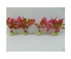 4 Plantes Artificielles Aquatiques Pour Aquarium 11cm Plante Décoration