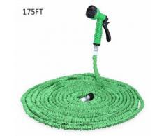 175FT tuyau d'eau extensible avec 7 modes de fonctionnement du pistolet de pulvérisation pour jardin vert