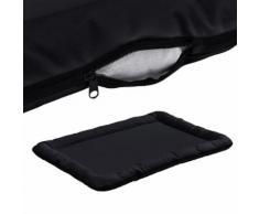 [En.Casa] Panier Pour Chien - Avec Zip - Tissu D'oxford / Coton - 100 X 70 Cm [Taille. Xl] - Noir