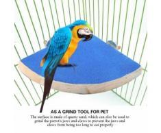 Animaux Perruche Perruche Jouets, Plate-Forme En Bois Cage Perroquet Oiseaux Perchoirs De Stand Pet Perruche Perruche Jouets