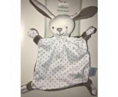 Doudou Lapin Plat Gris Blanc Etoiles Grises Mes Petits Cailloux Peluche Jouet Eveil Bebe Soft Toys Comforter Grey And White Bunny Stars Baby