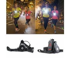 Sécurité Nuit Extérieure Lumière De Led Poitrail Avertissement Lampe De Jogging Cyclisme